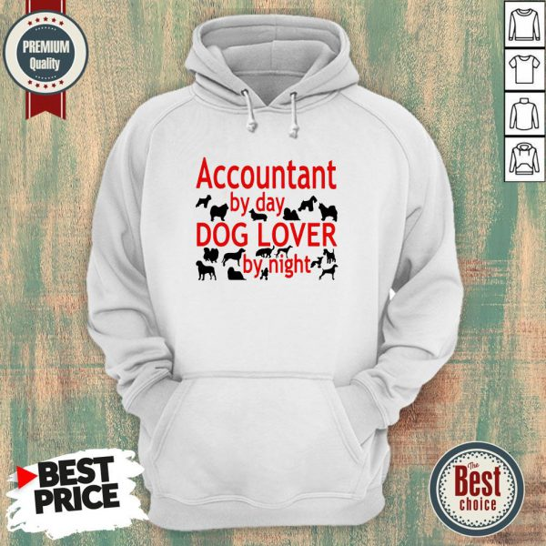 Accountant By Day Dogs Lover By Night Hoodie