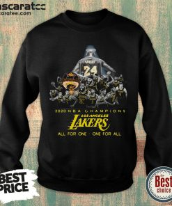 2020 NBA Champions Los ANgeles Lakers All For The One One For All Sweatshirt