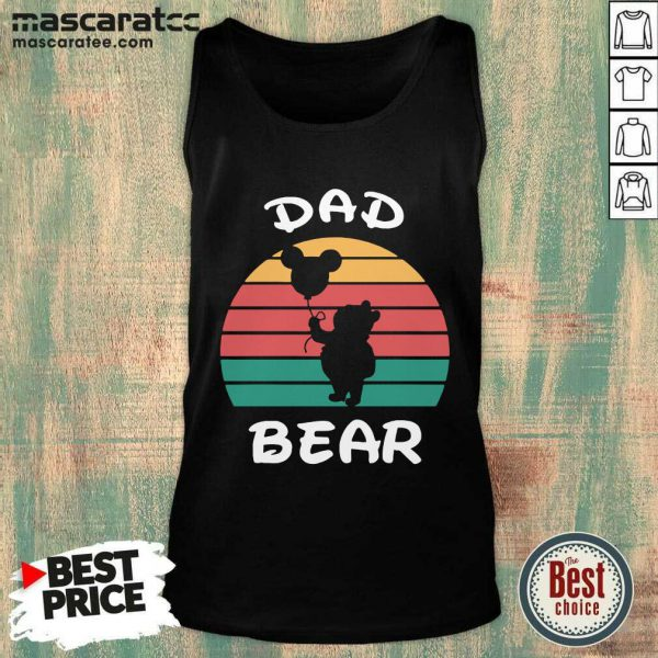 Dad Bear Disney Vintage Retro Tank Top - Design by Mascaratee.com