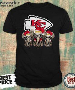 Kansas City Chiefs Elephant Christmas Shirt - Design by Mascaratee.com