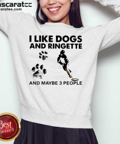I Like Dogs And Ringette And Maybe 3 People Sweatshirt - Design by Mascaratee.com